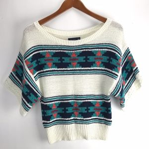 American Eagle Outfitters Womans Aztec Knit Sweate
